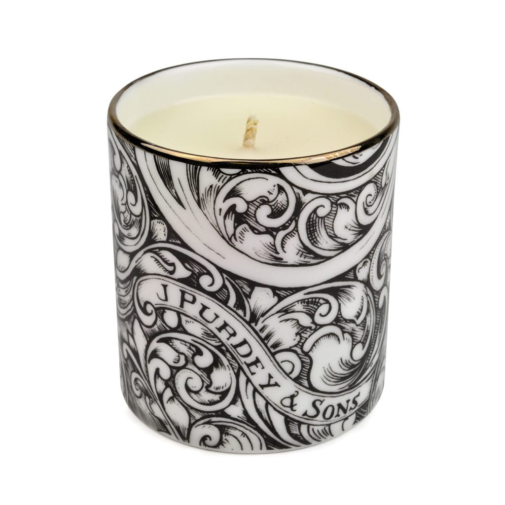 James Purdey Scented Candle With Gun Scroll Design