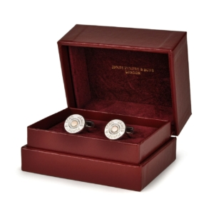 James Purdey Silver Cartridge Cap Cufflinks