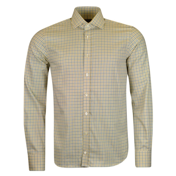 James Purdey Small Check Tattersall Shirt Forest Green