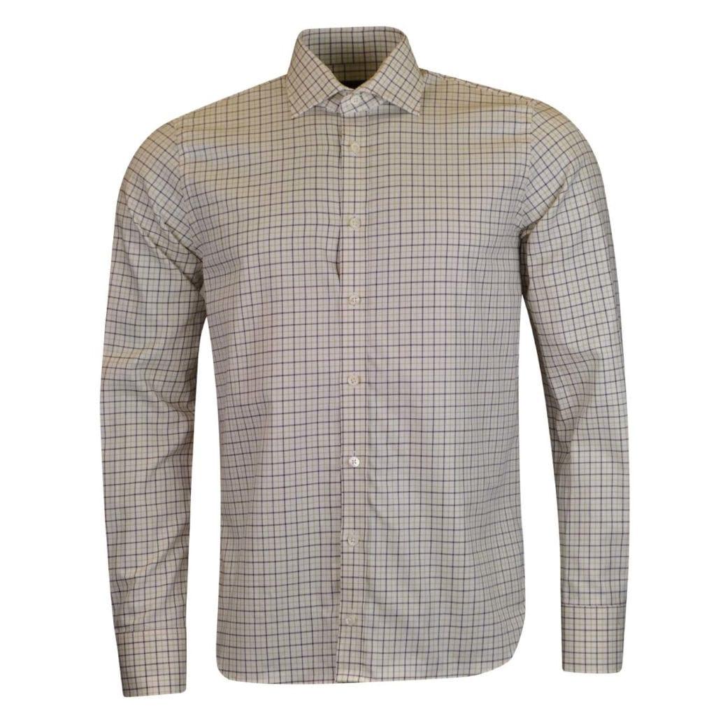 James Purdey Small Check Tattersall Shirt Sulphur