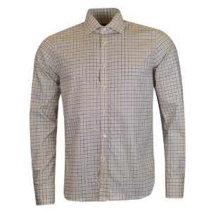 James Purdey Small Check Tattersall Shirt Sulphur