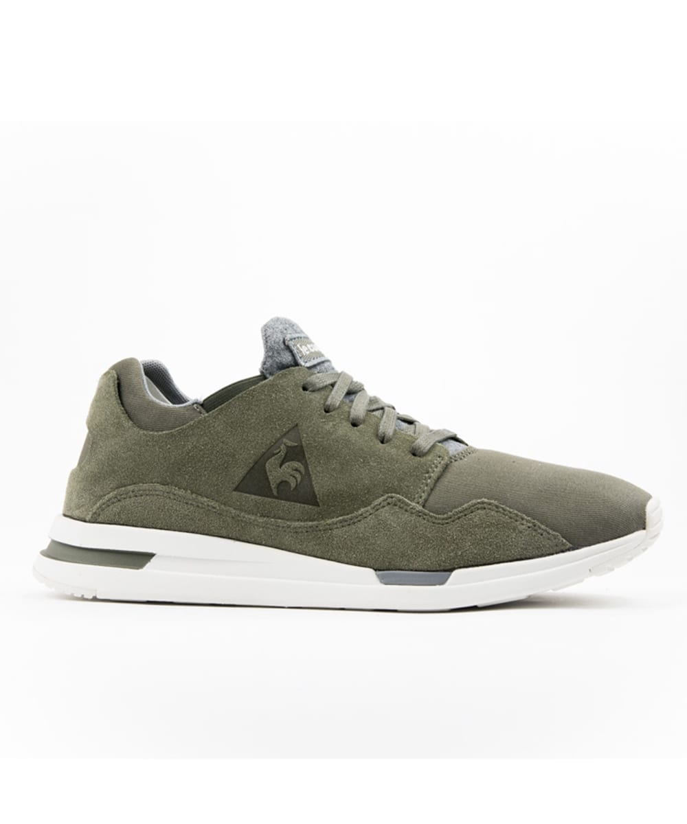 Le Coq Sportif Pure Waxy Canvas Trainer Olive Night