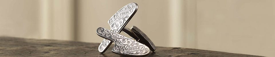 Silver Shooting Cufflinks