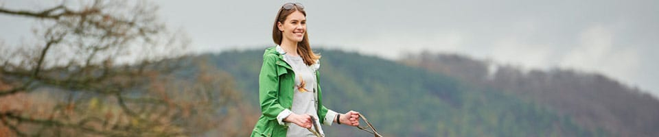 Women in the Countryside Wearing Outdoor Walking Jacket