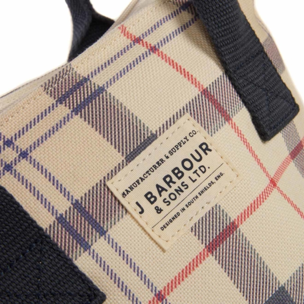 Barbour Leathen Tote Bag Summer Tartan