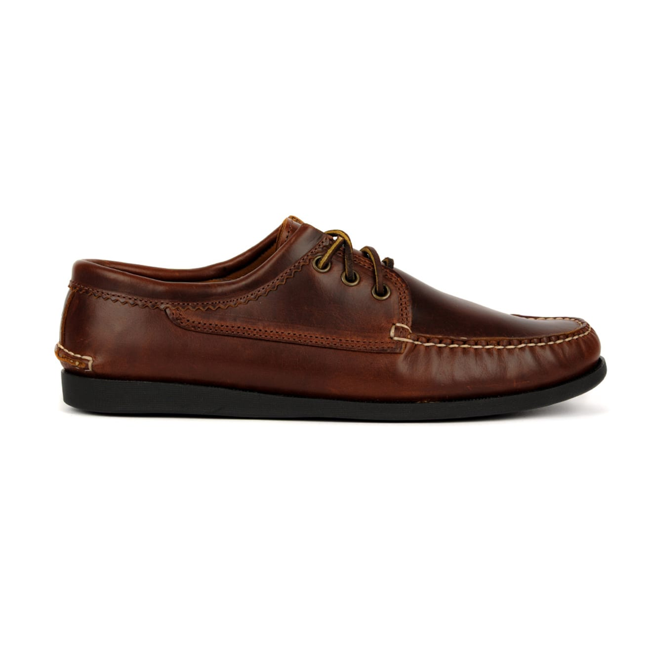 Quoddy Blucher Moccasin Shoe Chromexcel Brown