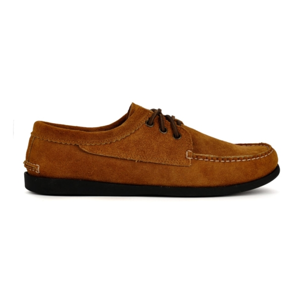 Quoddy Blucher Moccasin Shoe Toast Suede
