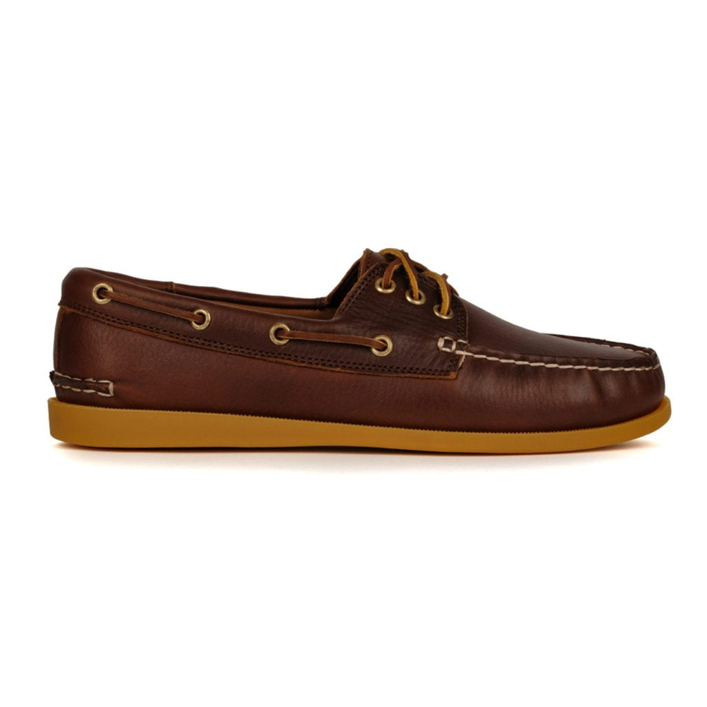 Quoddy Classic Boat Shoe Driftwood Cinnamon