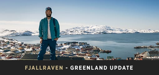 Wearing Fjällräven Jacket, Trousers, Cap and Shirt in Greenland