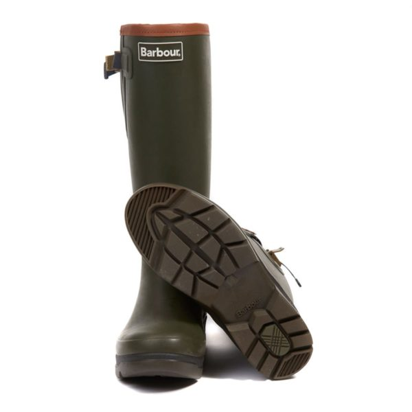 Barbour Womens Tempest Wellington Olive Sole Made From 3 Parts
