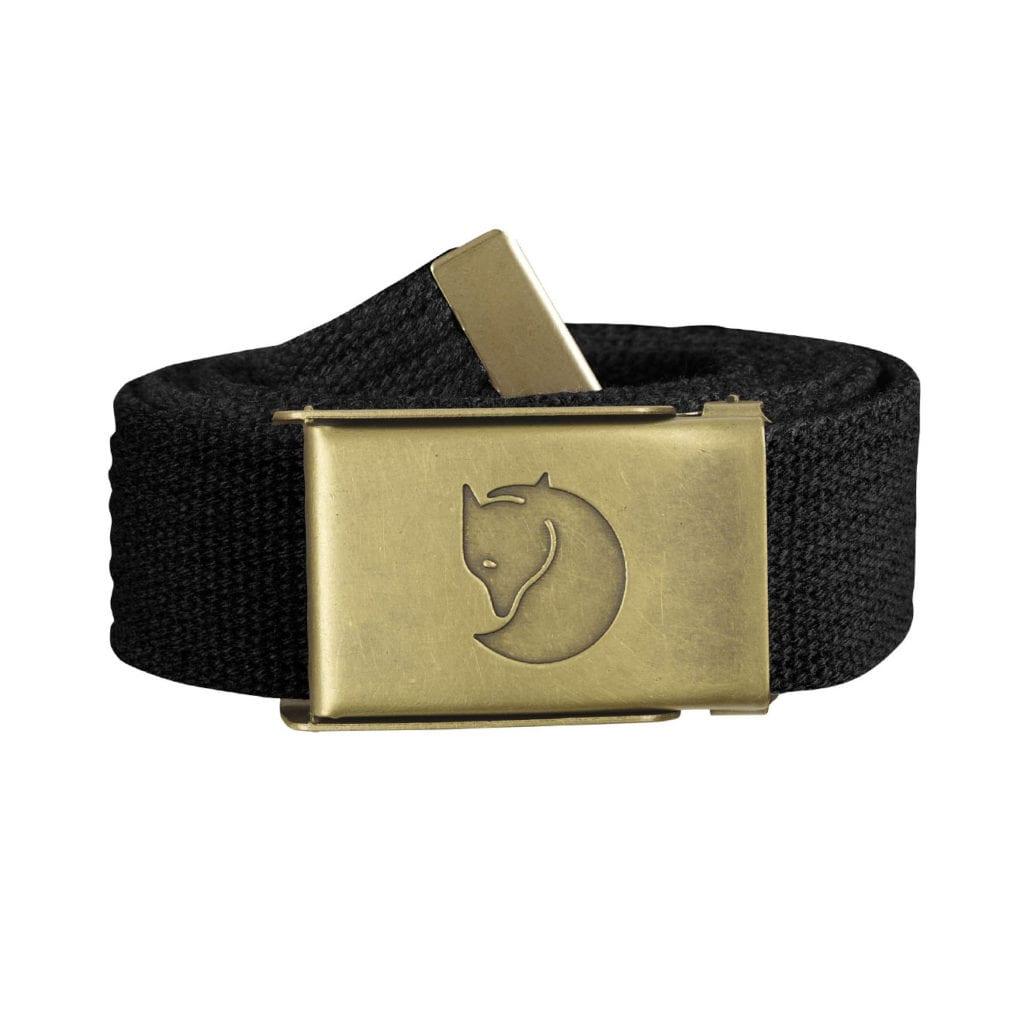 Fjallraven Canvas Brass Belt 3cm Black