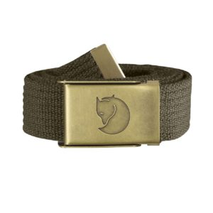 Fjallraven Canvas Brass Belt 3cm Dark Olive