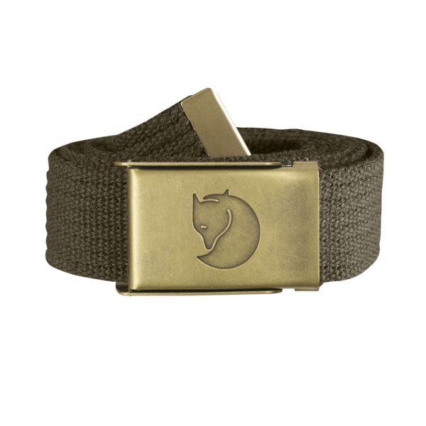 Fjallraven Canvas Brass Belt 3cm Dark Olive
