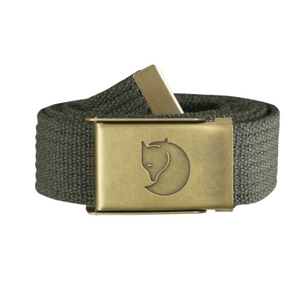 Fjallraven Canvas Brass Belt 3cm Mountain Grey