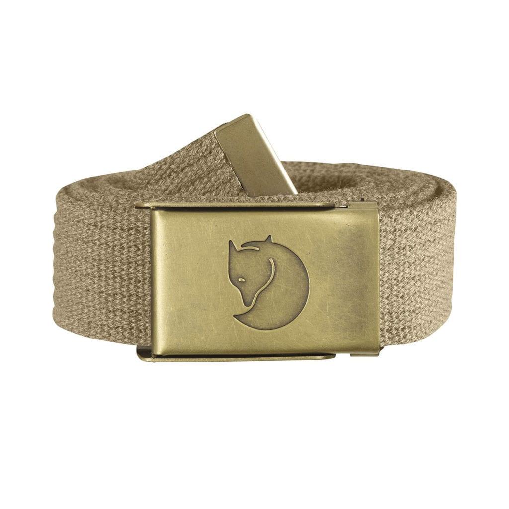 Fjallraven Canvas Brass Belt 3cm Sand