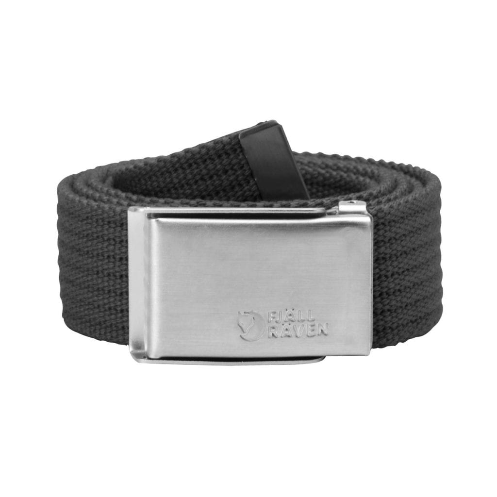 Fjallraven Merano Canvas Belt Dark Grey