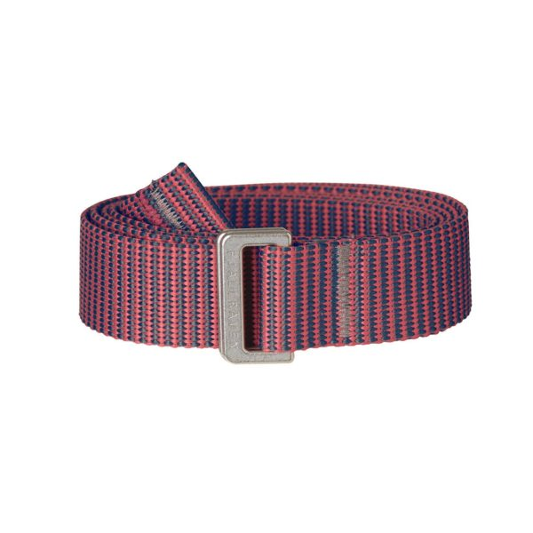 Fjallraven Womens Striped Webbing Belt Peach Pink dusk