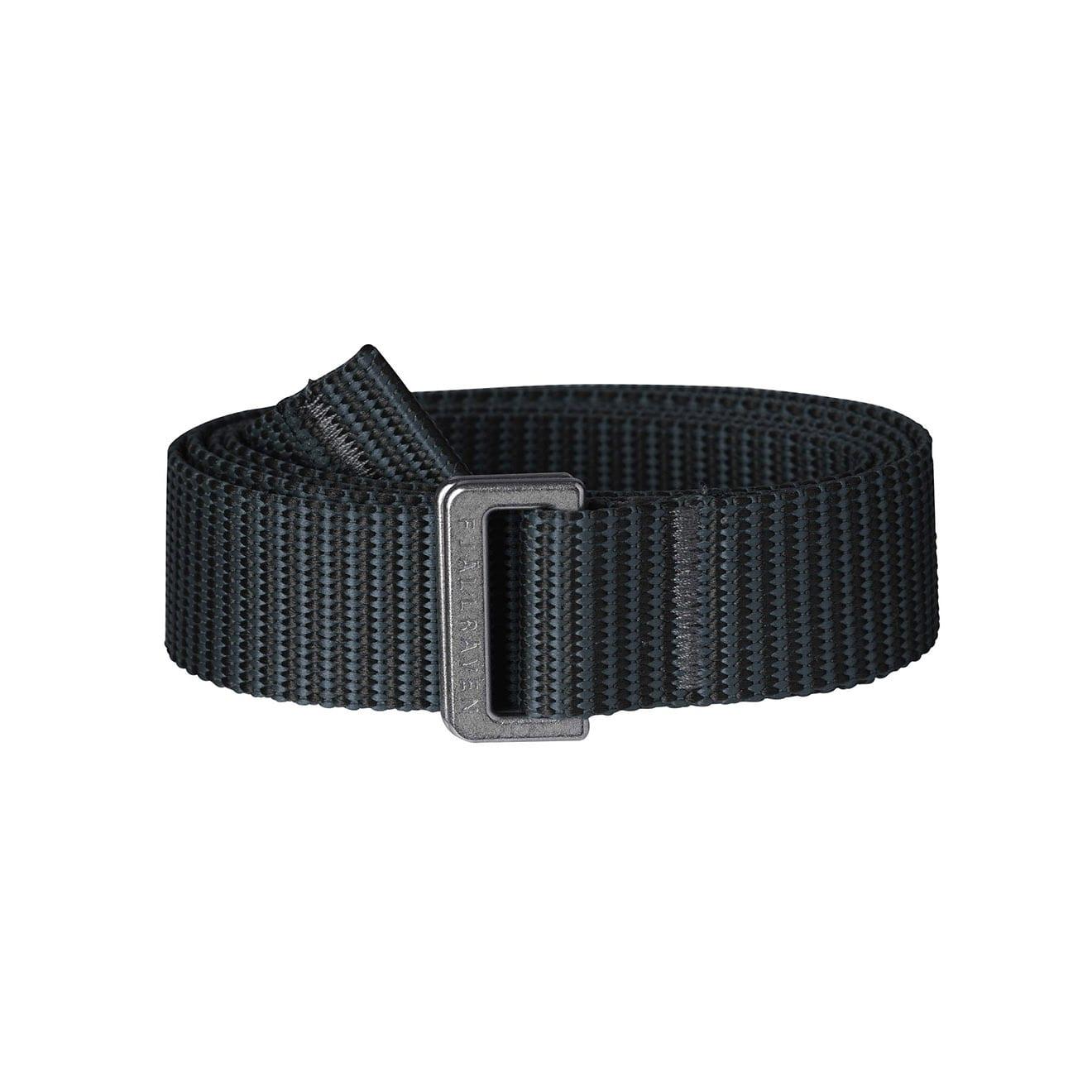 Fjallraven Womens Striped Webbing Belt Black Dusk