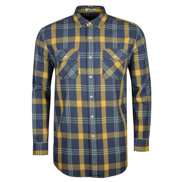 Pendleton Beach Shack Twill Shirt Washed Indigo/Ochre Plaid