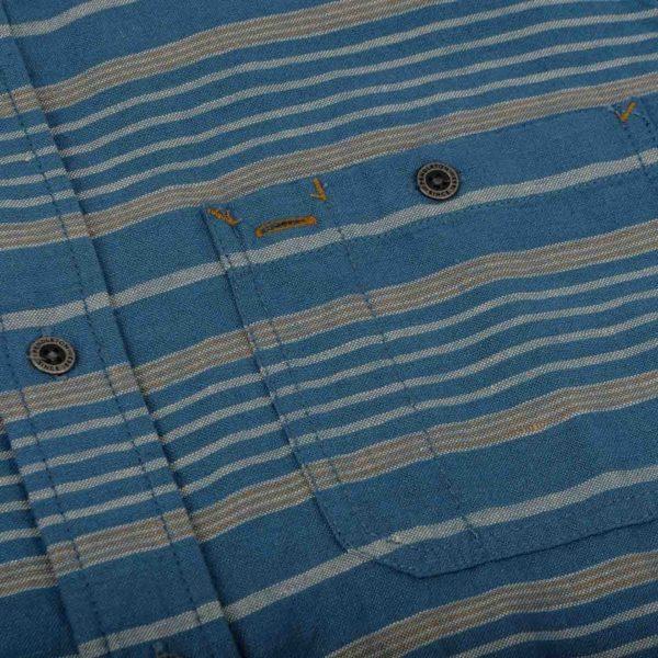 Pendleton Kay Street Print Fitted Shirt Navy/Cream Stripe