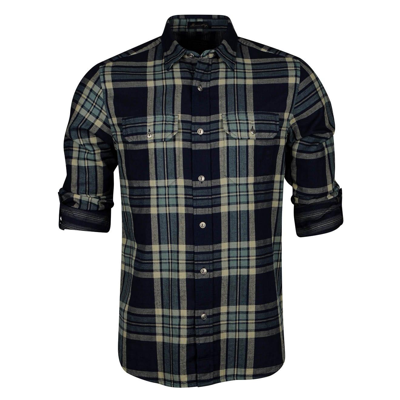 Pendleton Thomas Kay Double Face Fitted Shirt Indigo Plaid