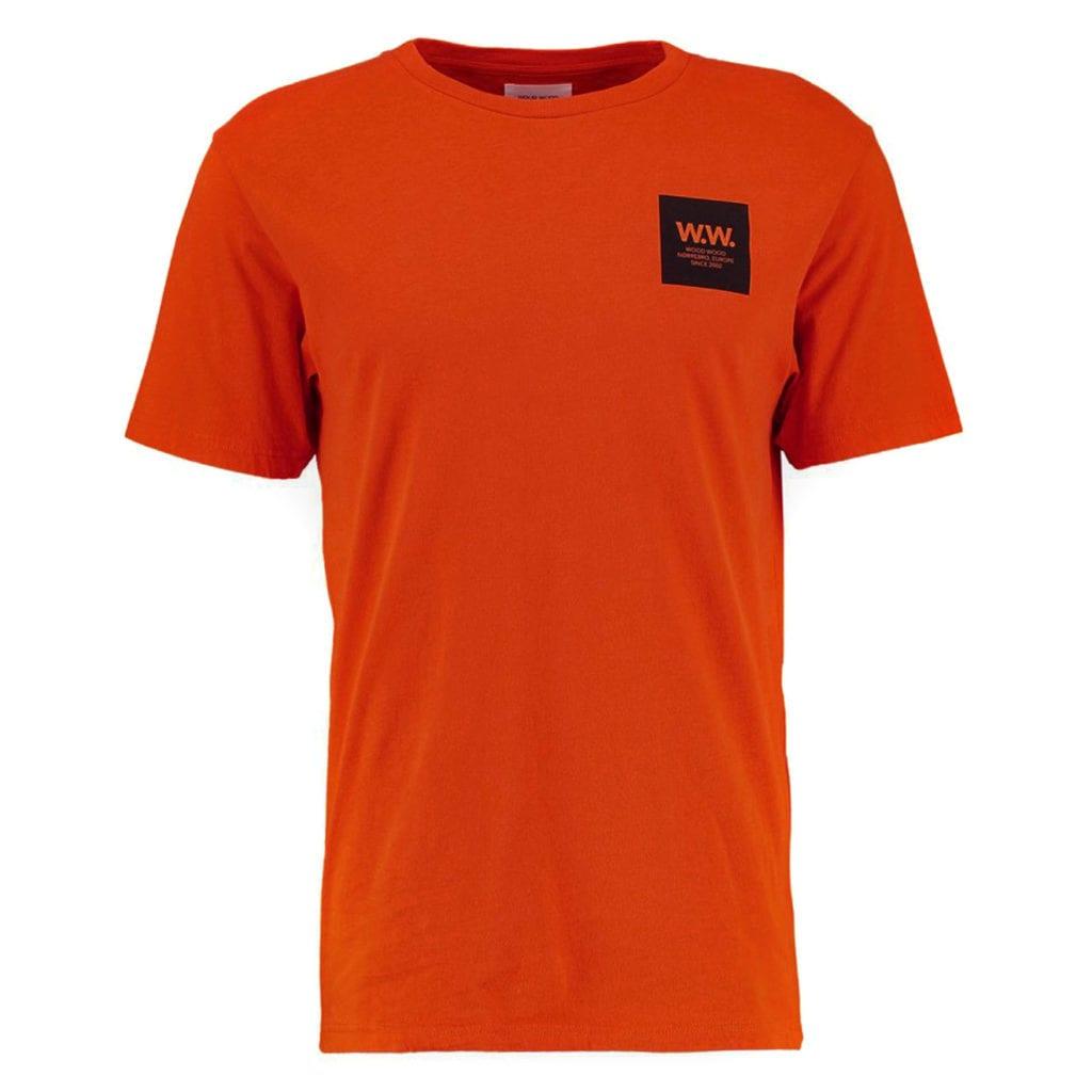 Wood Wood WW Box T-Shirt Dark Orange