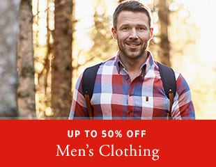 Up to 50% off Men's Wear