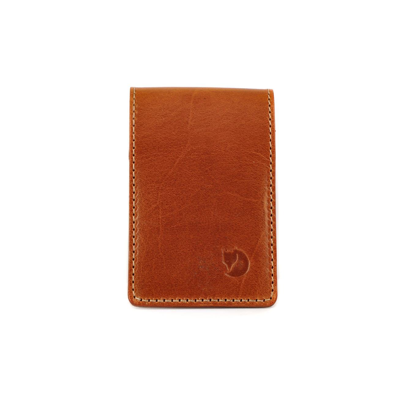 Fjallraven Ovik Card Holder Large Leather Cognac