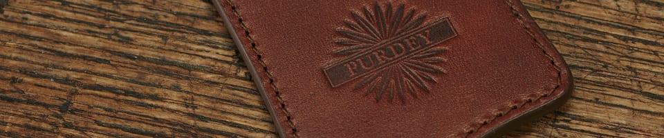 Purdey Premium Leather Keyring
