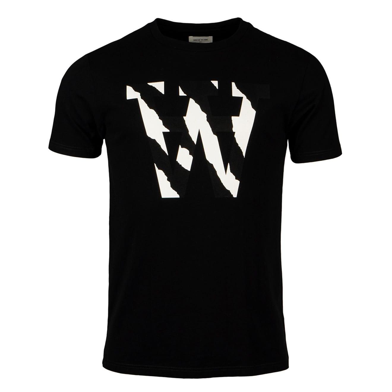 Wood Wood AA Two Tones T-Shirt Black