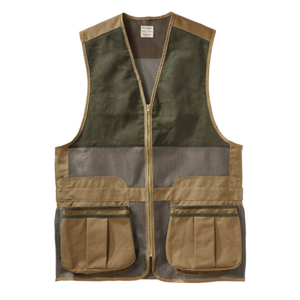 Filson Light Shooting Vest Dark Tan