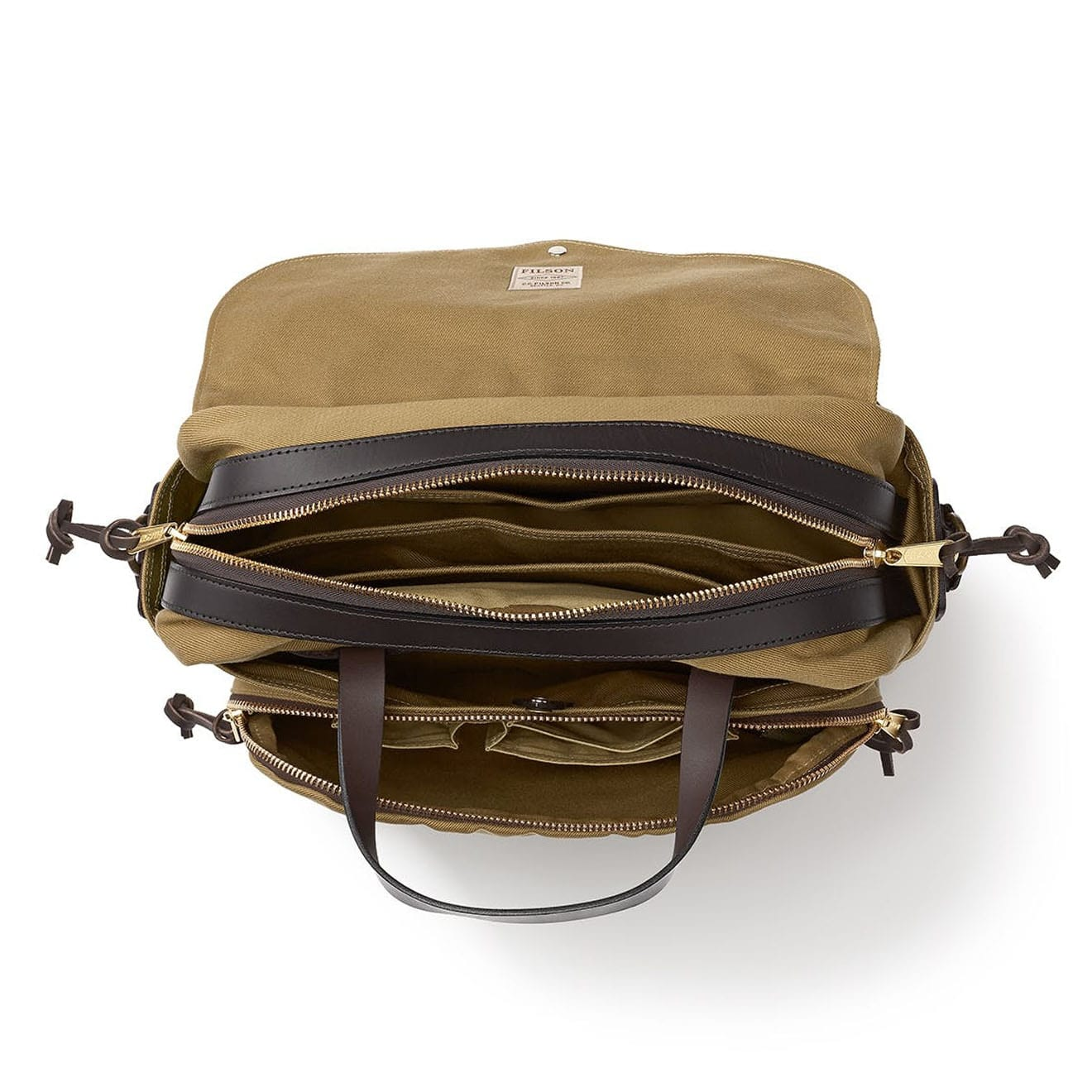 d3544a1dbf55 Filson Rugged Twill Padded Computer Bag Tan - The Sporting Lodge