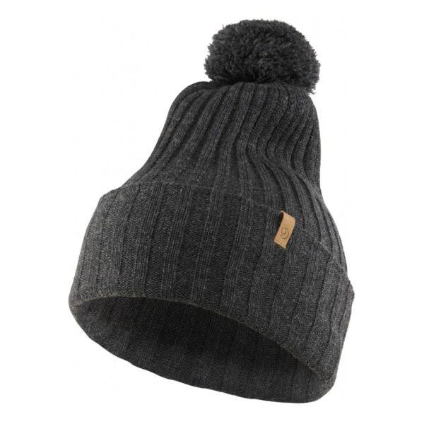 Fjallraven Byron Pom Hat Dark Grey