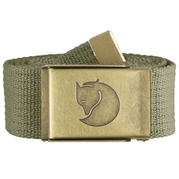 Fjallraven Canvas Brass Belt 4cm Green