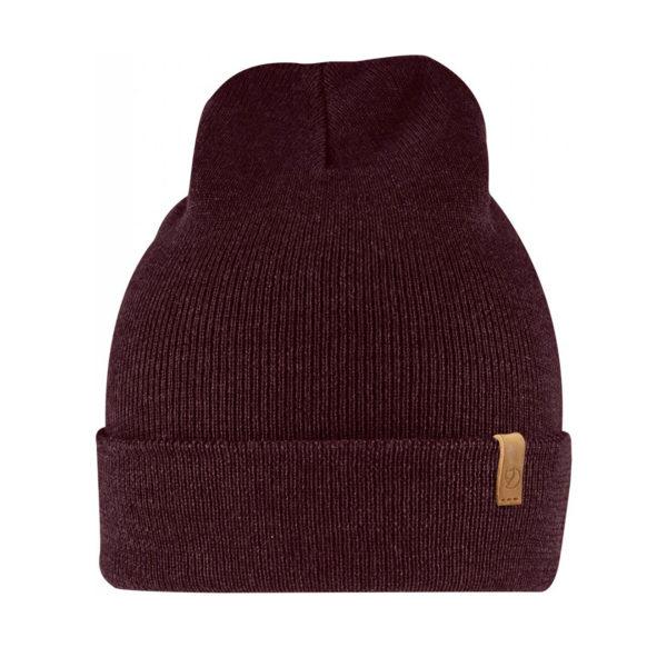Fjallraven Classic Knit Hat Dark Garnet