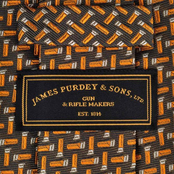 James Purdey Cartdirdges Tie Green