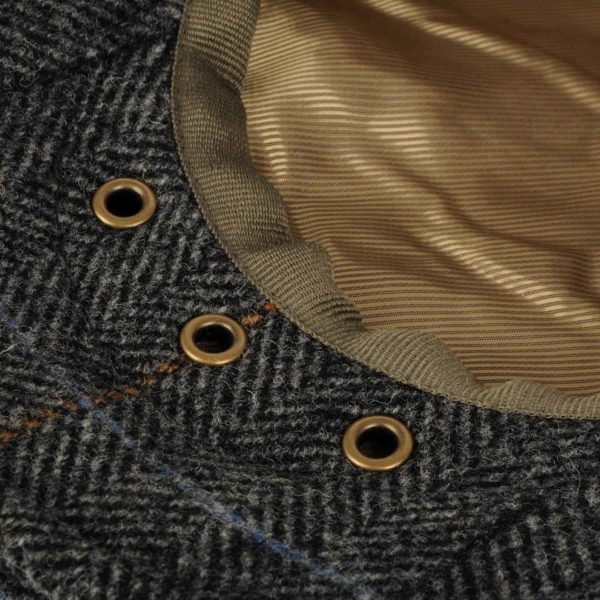 Barbour Crieff Cap Charcoal Country Tweed