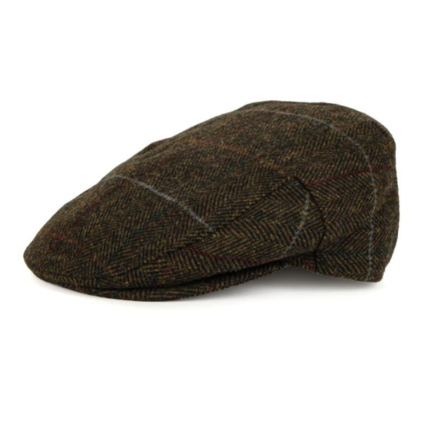 Barbour Crieff Cap Olive Country Tweed