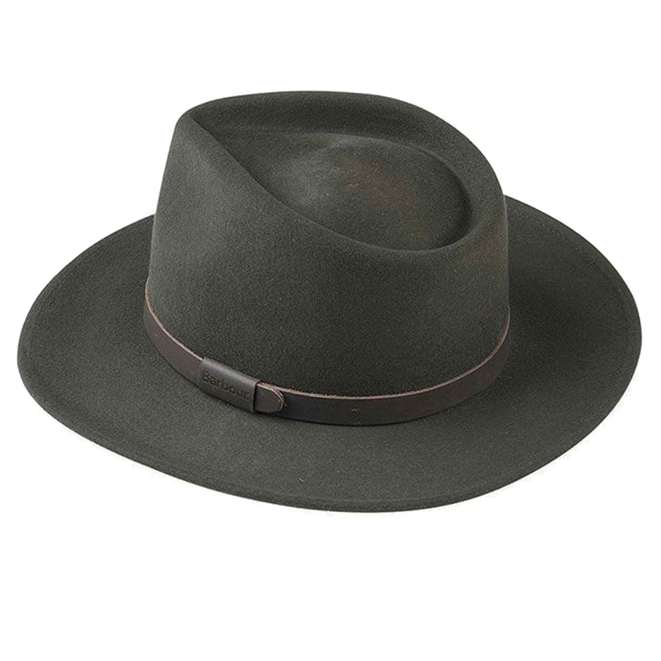 Barbour Crushable Bushman Fedora Hat Olive