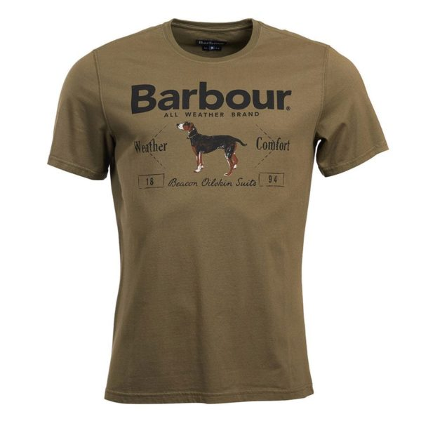 Barbour Dog Country T-Shirt Mid Olive