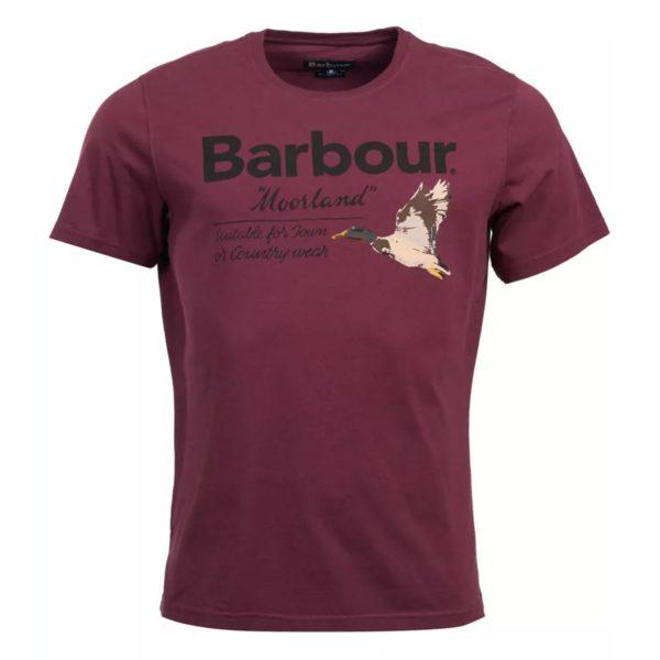 Barbour Duck Country T-Shirt Merlot