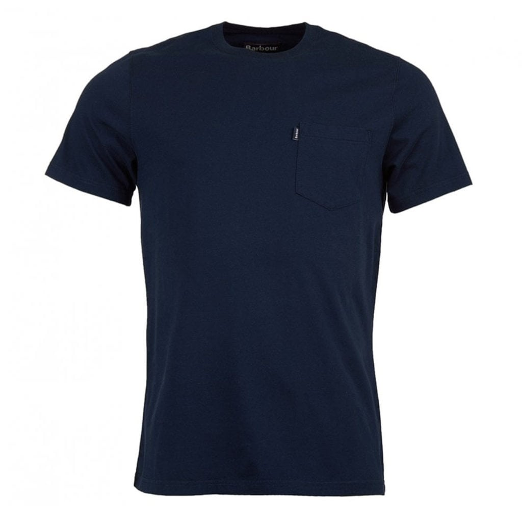 Barbour Essential Pocket T-Shirt Navy