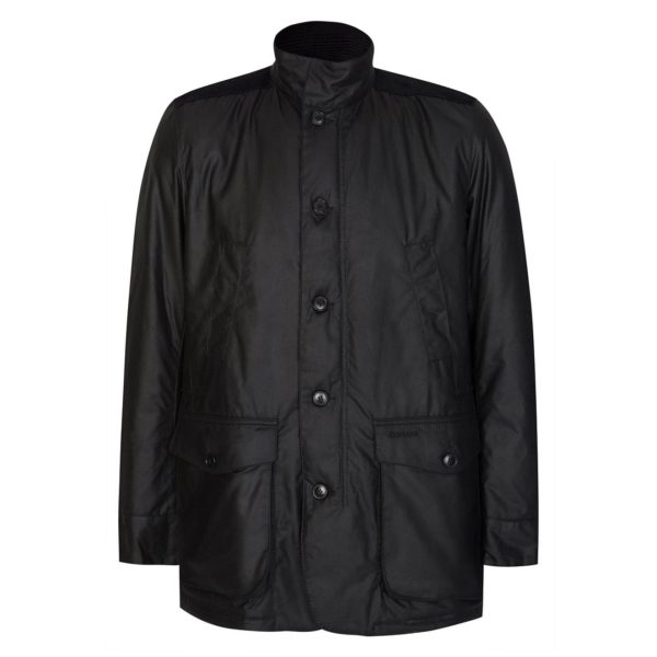 Barbour Kyle Wax Jacket Black