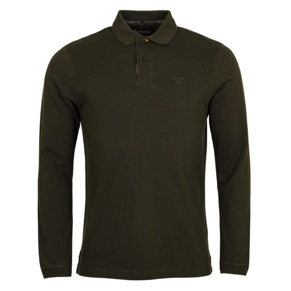 Barbour Long Sleeve Sports Polo Forest - The Sporting Lodge
