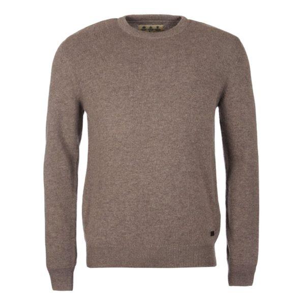 Barbour Nelson Essential Crew Neck Sweater Dark Stone