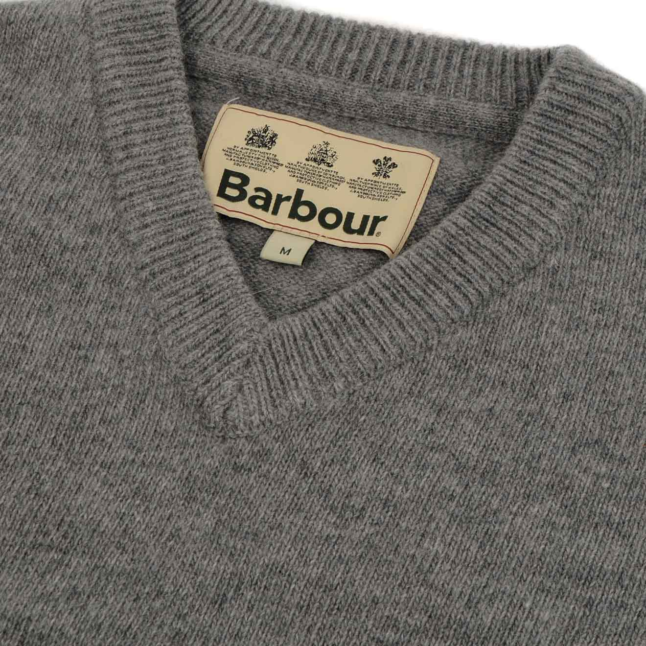 0b6b60dd193 Barbour Nelson Essential V-Neck Sweater New Grey Marl - The Sporting Lodge
