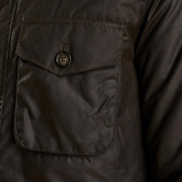 Barbour Netherley Wax Jacket Olive