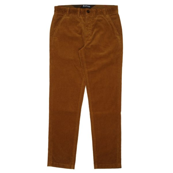 Barbour Neuston Stretch Cord Trousers Dark Honey