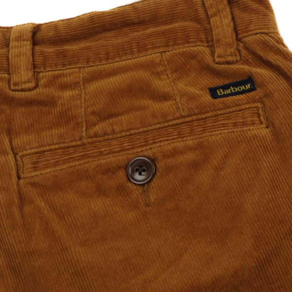 Barbour Neuston Stretch Cord Trousers Dark Honey