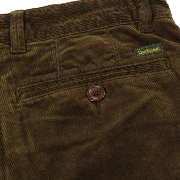 Barbour Neuston Stretch Cord Trousers Dark Olive
